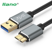 llano USB 3.0 Type A Micro B USB3.0 Data Sync Cable Cord for External Hard Drive Disk HDD Samsung S5