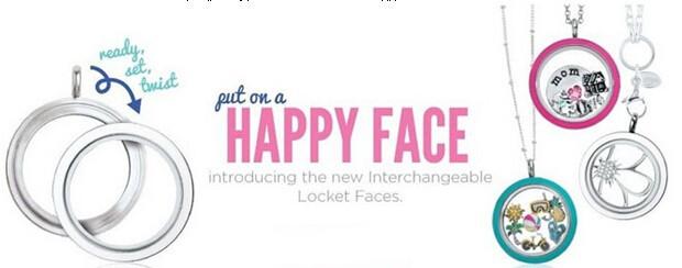happy face screw floating lockets