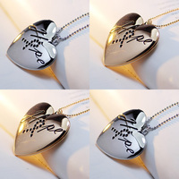 Exclusive Design Gold Silver Heart Photo Box Opening Locket Necklace Vintage Photos Pendants Charms Jewelry For