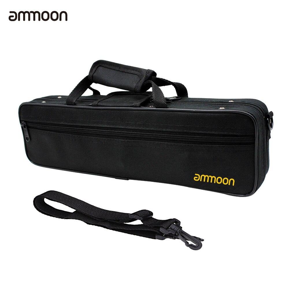 Boîte de sac étanche 600D, tissu Oxford pour flûte de Concert occidentale, avec sangle dépaule unique réglable, poche en coton