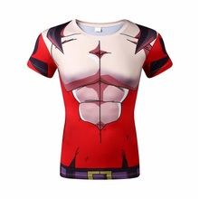 Free shipping, 2016 new brand dragonball digital printing breathable quick-drying men and women t-shirts wholesale and retail