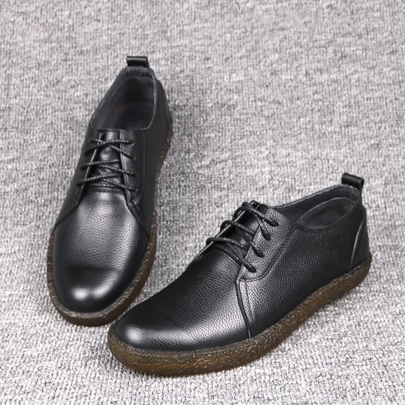 DESAI nowy Bullock buty męska koreańska wersja biznes buty w stylu casual prawdziwej skóry sznurowane buty w stylu Retro mężczyźni oksfordzie w Oxfordy od Buty na  Grupa 3
