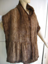 Newest Genuine Real Mink fur Cape Large fishtail shape Womens knitted/shawl/ coat /black/light brown