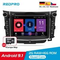 Android 8,0 ips автомобильный dvd радиоплеер для hyundai i30 Elantra GT 2012 2016 Авто Аудио видео wifi gps Навигация стерео Мультимедиа