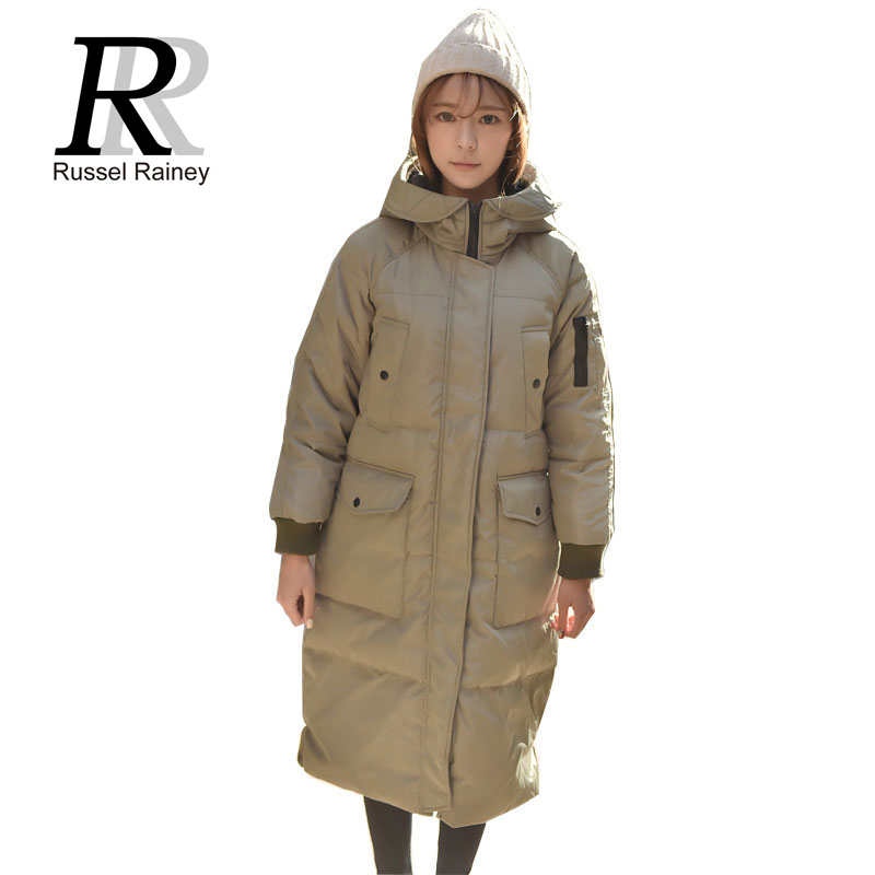 RR 2016 Women Winter Long Coats Outerwear New Arrival Solid Loose Parkas Fashion Lady Thick Warm Cotton-padded Jackets Coats