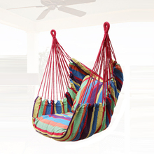 YX Newest Canvas Hammock Adult Indoor Swing Cradle Outdoor Handing Chair Children Tourism with Cushion Bearing 120KG