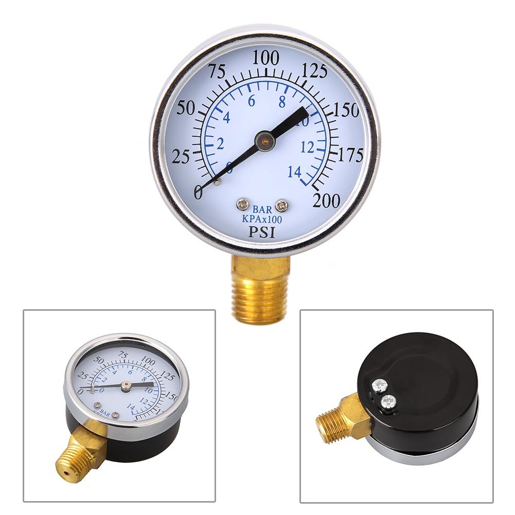 0 160psi Mini Pressure Gauge Metal 1/8 10Bar Compressor Compressed ...