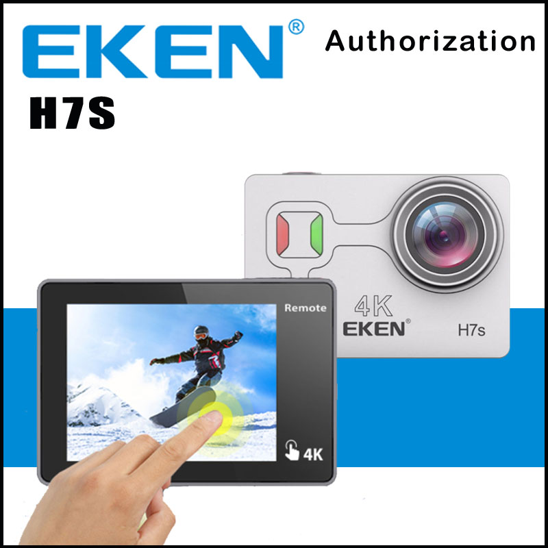 EKEN H7S Action Camera Touch Screen Sport Cam Remote HD 4K WiFi 1080P 60fps 2.0 LCD 170D Sport Go Waterproof Pro Camera battery dual charger bag action camera eken h9 h9r 4k ultra hd sports cam 1080p 60fps 4 k 170d pro waterproof go remote camera