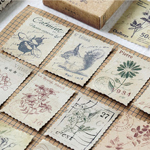 46 Pcs/box Forest post office paper sticker DIY decoration stickers diary photo album scrapbooking planner label