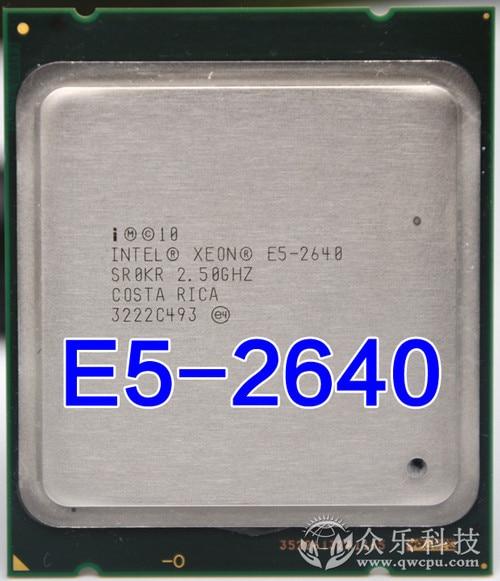 Intel Xeon E5-2640 E5 2640 15M Cache 2.50 GHz 7.20 GT/s Processore CPU e5 2640