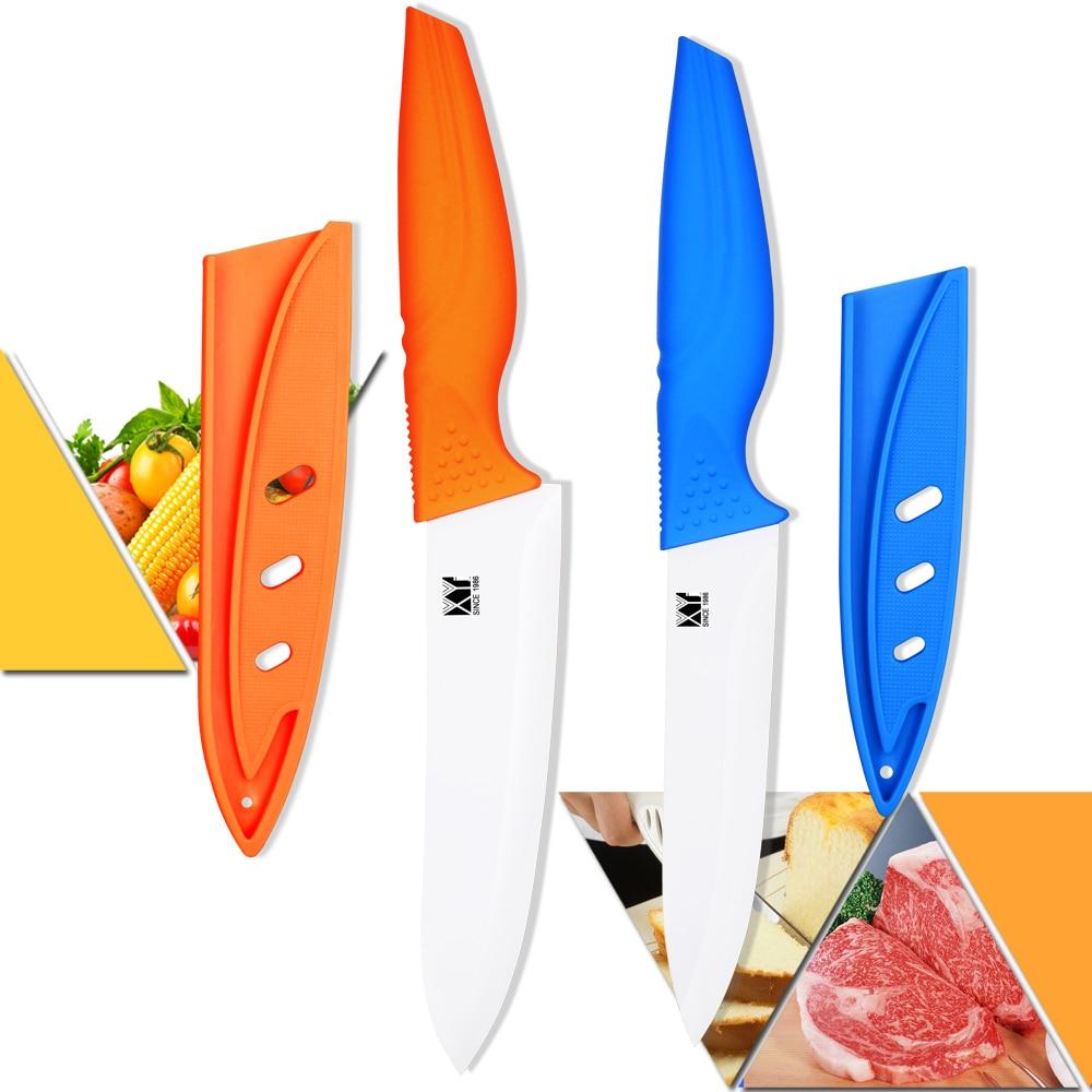 XYJ Бренд Керамічні Ножі 5 Дюймів Нарізання 6 Дюймів Шеф-кухар Кухонні Ножі Ручної Керамічної Кухні Ножі Кухня Відмінно присутній  t