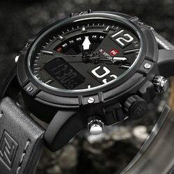 NAVIFORCE Watches Men Brand Luxury Leather Strap Army Military Watch Men Quartz Clock Watch Sports Wrist Watch relogio masculino