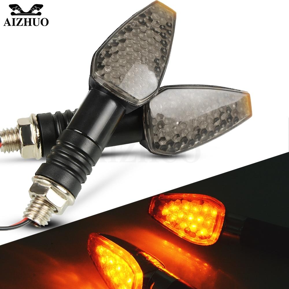 Universal Motorcycle Turn Signal Light 12V LED Indicators Blinker Lamp For SUZUKI GSXS 750 1000 DR 650 BURGMAN 650 1200 BANDIT