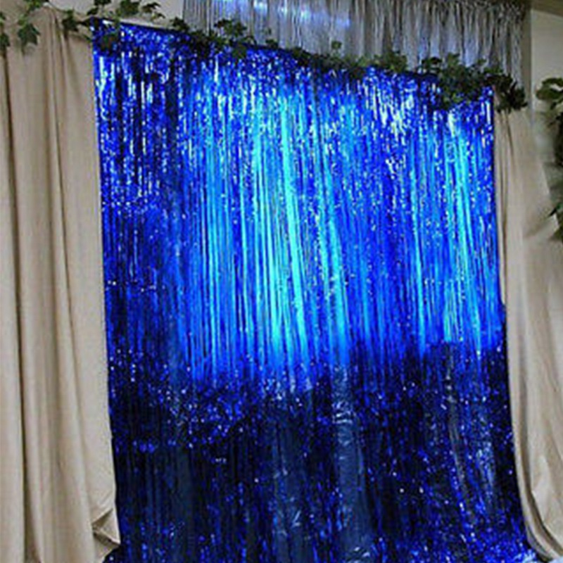 New Metallic Fringe Curtain Chritmas Party Foil Tinsel House Room Home Decor Festival Day Party Curtain