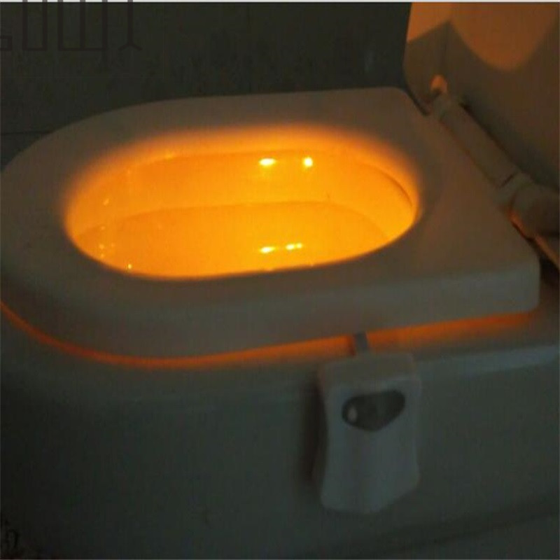 Home Adornment Christmas Gift Toilet Nightlight Only Activates In Darkness Toilet Decoration Lamp Human Induction Lamp 1Pcs