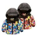 winter Boys' children coat cotton-padded thickening jacket baby clothes
