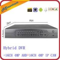 32CH 4.0MP AHD 4 в 1 DVR Hi3531A с 16CH аудио HD DVR для 16CH IP сети + 16CH AHD TVI CVI Камера 32CH 1080 P DVR P2P XMEYE
