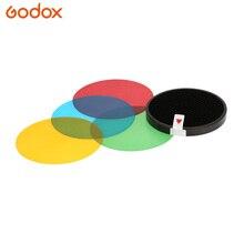 Godox AD-S11 цветной фильтр гелевый пакет с сотовой сеткой крышка отражатель комплект для Witstro Flash AD180 AD360 AD360II четыре цвета