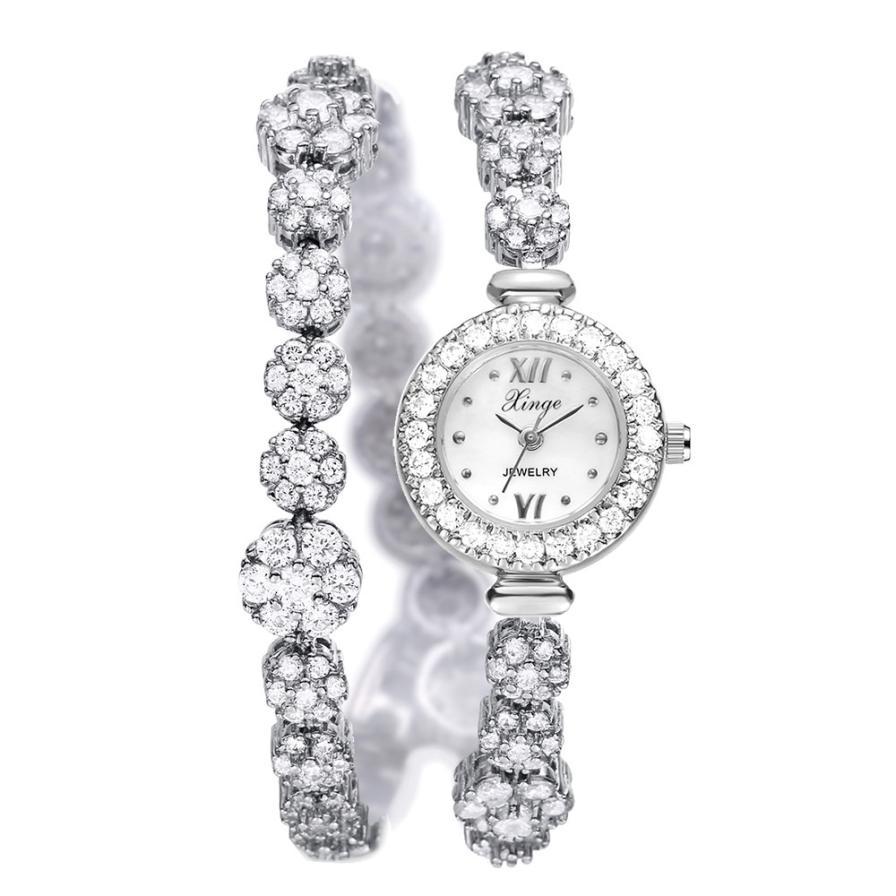 Women Casual Simple Quartz Analog Band Wrist Watches lady Watch Beautiful 10.24 stylish bracelet band women s quartz analog wrist watch coffee golden 1 x 377