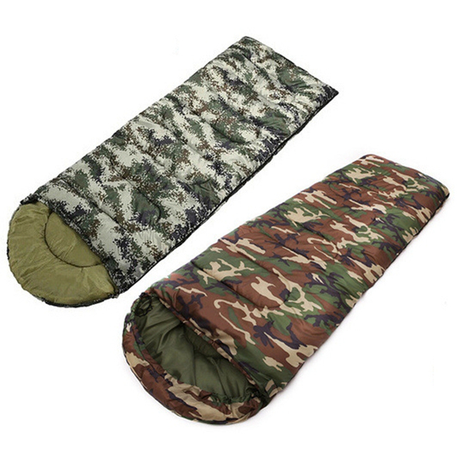 1000g 1300g 1600g Outdoor Hiking Hunting Down Warm Sleeping Bag Military Camouflage Single Envelope Sleep