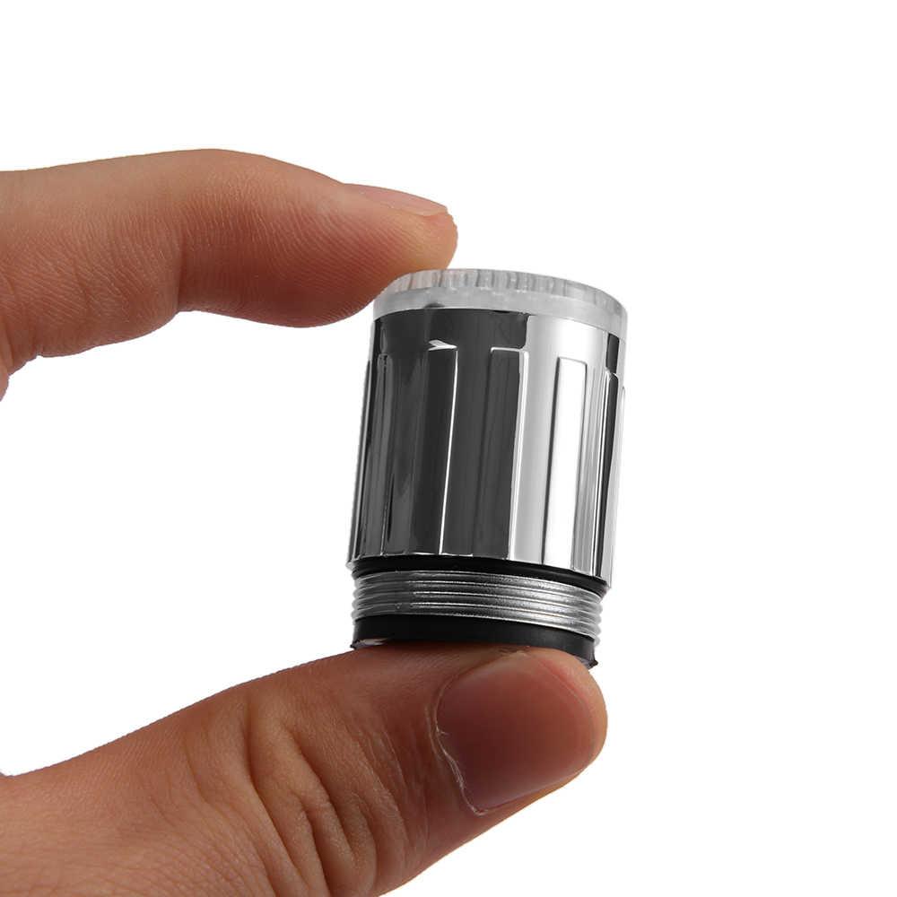 1 шт. фантастические светящиеся диодные огни водопроводный кран головки Температурный датчик 3 цвета Изменение RGB светящийся смеситель для ванной комнаты насадка, аэратор