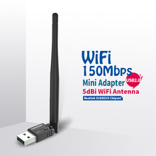 COMFAST 150Mbps Wifi Adapter 802.11b/n/g USB Wi-Fi Community LAN Card 5dBi wifi antenna adaptador PC Laptop computer Receiver CF-WU755P