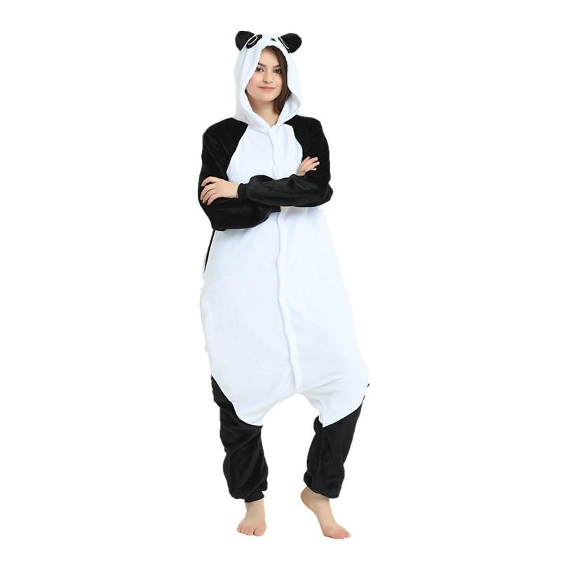 Cute Kungfu Panda Kigurumi Soft Flannel Cartoon Onesie Warm Panda Night-suit Set Cosplay Jumpsuit Party Sleepwear For Halloween (5)
