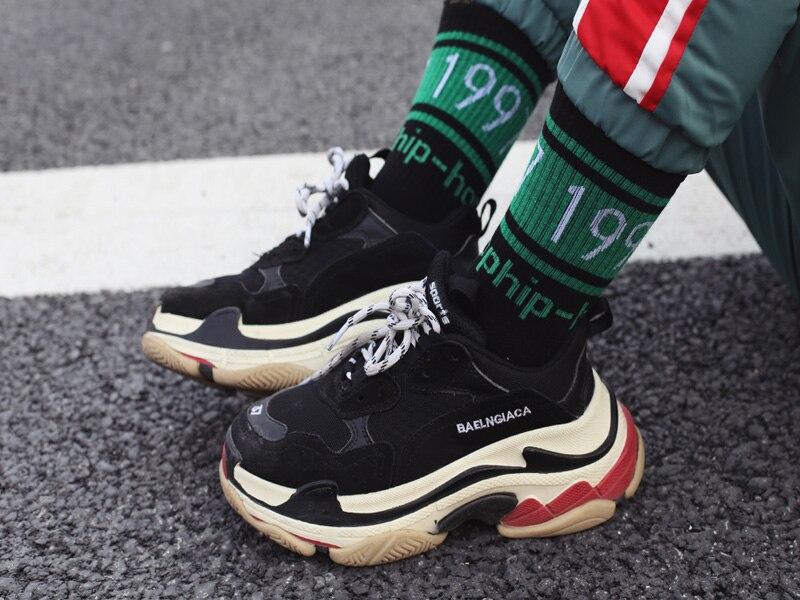 New Original Design Korean Version Of Harajuku Fashion Brand Hiphop Long Socks 1997 Street Hip Hop Couple Skateboard Socks Men's Socks