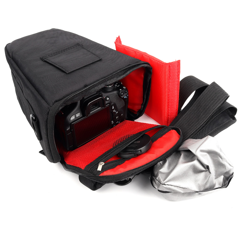 cheapest Waterproof Camera Case Bag For Canon 1300D 1100D 1200D 100D 200D DSLR EOS Rebel T3i T4i T5 T5i T3 600D 700D 760D 750D 550D 500D
