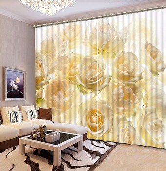 custom 3d cortinas Flowers 3d window treatments living room gordijnen voor slaapkamer telas por metros para cortinas