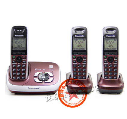 KX-TG 6531 DECT 6.0 PLUS Expandable Digital Cordless Phone with Answering System Home Telephone Set, 3 handsets