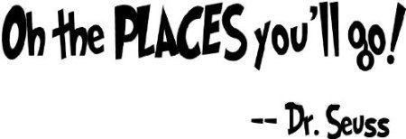 Dr Seuss Oh The Places Youll Goart Vinyl Sticker Decor Wall