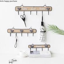 Подвесное настенное украшение для гостиной, спальни, девичьей комнаты, настенная подвесная стойка, украшение в скандинавском стиле, настенная подвесная деревянная вешалка