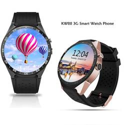 "KingWear KW88 Android 5,1 1,39 ""3g Smartwatch телефон MTK6580 4 ядра 1,39 ГГц 4G ROM gps тяжести Bluetooth Смарт часы Шагомер"