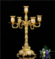 rare antique metal fower caved bronze 5 arm candelabra lanterns for candles flower candle that opens vintage lantern ZT012gr