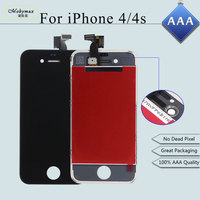 Mobymax 30PCS Lot AAA LCD Display Pantalla Ecran For IPhone 4S 4 Touch Screen Tela Digitizer