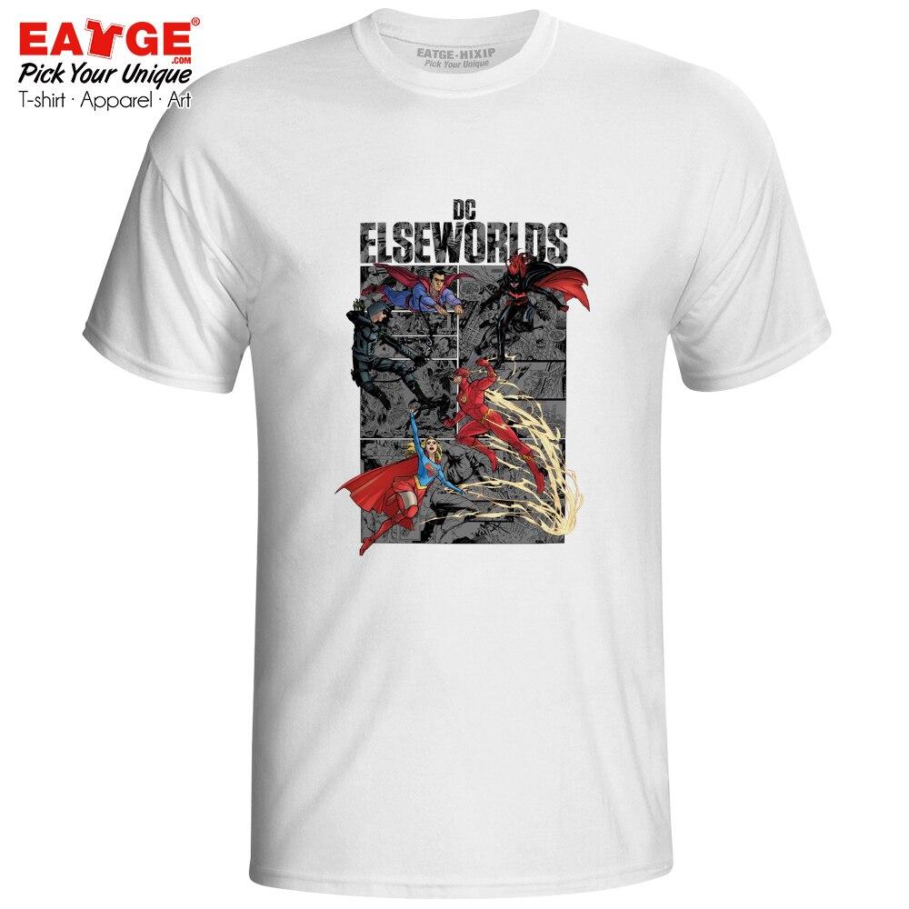 Elseworlds Superheroes T Shirt Tv Series Superman Supergirl Flash