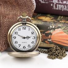 Cindiry Brand Vintage Bronze Doctor Who Style Fashion Quartz Pocket Watch Best Gift P30