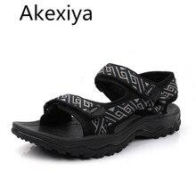 Akexiya Alta Calidad de Los Hombres Sandalias de Los Hombres Sandalias de Verano Sandalias Planas De Goma Hombre Moda Sport Beach Sandal 03