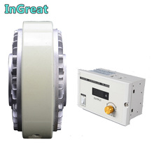 Hollow Shaft Magnetic Powder Brake100Nm 10kg DC 24V w/ Manual Tension Controller Kits for Printing Packaging Peritoneal Machine
