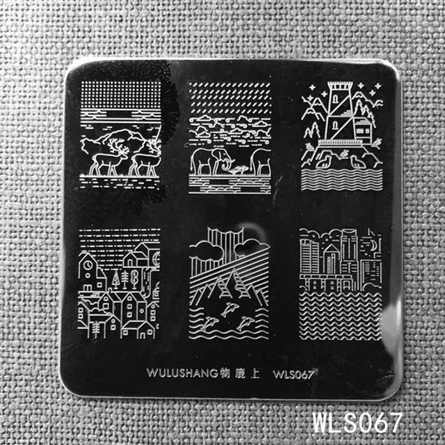 New Nail Stamping Plates Wulushang Square Stainless Steel Nail