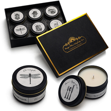 YINUO CANDLE 6PCS/Set Smokeless Scented Candles Imported Wick Soy Wax Aroma 6 Fragrances Birthday Gift Home Decoration