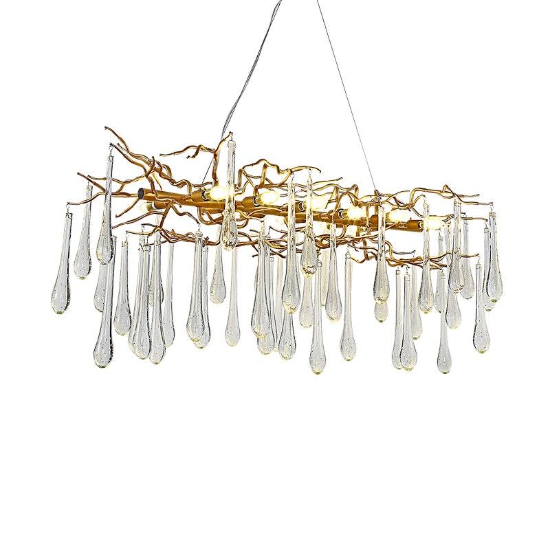 Lámpara de cristal francés candelabro de sala LED decoración de ramas de árbol candelabro hotel restaurante luces - 2