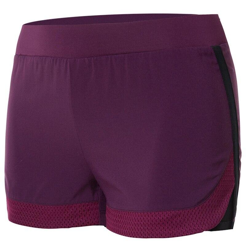 ①  Тренажерный зал Yoga Shorts женские дышащие фитнес шорты для бега Двухслойные тренировки Бег Велоспо ①