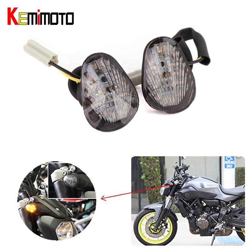 KEMiMOTO MT07 MT 07 2017 MT09 MT 09 Turn Signal Light Led blinker indicates lamp For YAMAHA MT-07 MT-09 2014 2015 2016