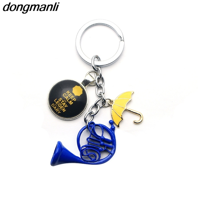 1pc a lot HIMYM How I Met Your Mother Yellow Umbrella mother Blue French Horn keychain