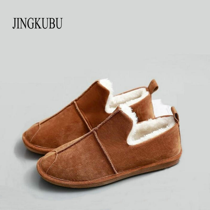 JINGKUBU 2017 Autumn Winter Women Ballet Flats Simple Sewing Warm Fur Comfort Cotton Shoes Woman Loafers Slip On Size 35-40 W329 jingkubu 2017 autumn winter women ballet flats simple sewing warm fur comfort cotton shoes woman loafers slip on size 35 40 w329