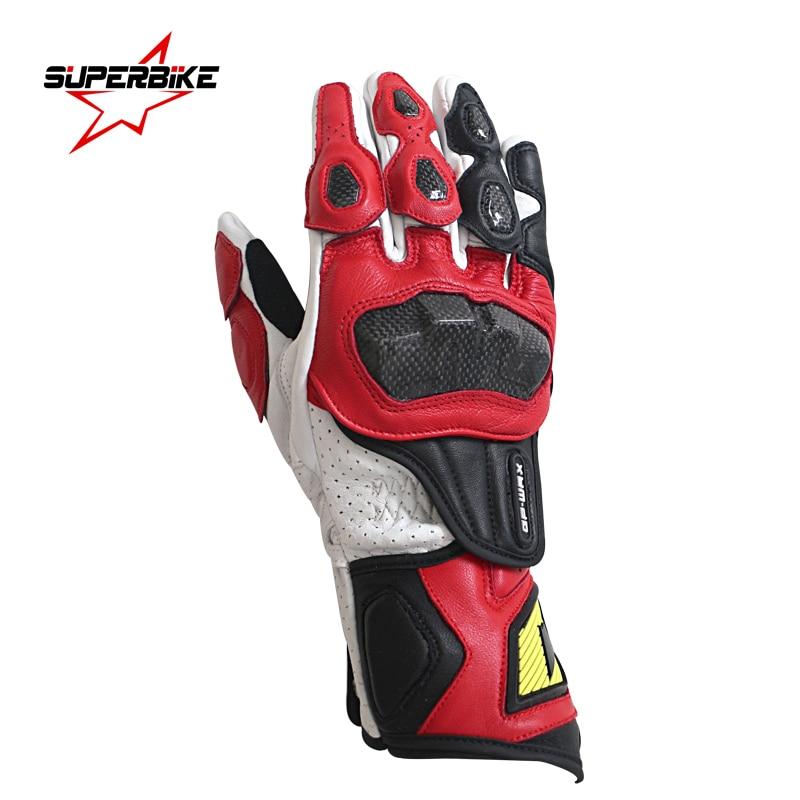 Motorcycle Gloves Moto GP PRO Men Genuine Leather Glove Motocross Protective Gear Cycling GuantesMoto Luvas de