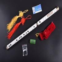 Handmade Chinese Bamboo Flute Natural Dizi National Musical Instruments G F Key For Beginner