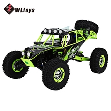 WLtoys RC Cars 2CH 2.4G 1:10 Scale Remote Control Electric Wild Track Warrior Car Model Off-Road Vehicle with four Wheels Car